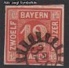AD Staaten Bayern Mi. Nr. 6 o Wertziffer 12 Kr