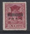 Feldpostmarken II. Weltkrieg Mi. Nr. 12 Typ II ** Insel Rhodos gepr�ft