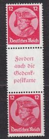 DR Zusammendruck S 105 ** Fridericus 1933 Luxus