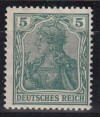 DR Mi. Nr. 85 II d ** geprüft Germania 5 Pfg.