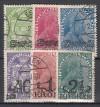 Liechtenstein Mi. Nr. 11 - 16 Freimarken mit Aufdruck o