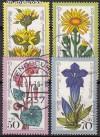 Berlin 1975 Mi. Nr. 510 - 513 o Alpenblumen