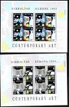 Gibraltar 2 Kleinbogen Europa 1993 ** ( K 88 )