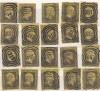 AD Preußen 20 Stück Mi. Nr. 4 o mit unterschiedlichen Stempeln