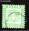 AD Staaten Baden Mi. Nr. 21 b o Wappen 18 Kreuzer