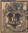AD Staaten Hannover Mi. Nr. 7 o Wertschild u. Wappen 1/10 Th