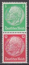 DR Zusammendruck Mi. Nr. S 106 Hindenburg