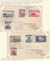 Polen Exilregierung Mi. Nr. 360 - 367 auf 2 echt gelaufene Briefe