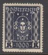 Österreich Rarität Mi. Nr. 404 B I ** Frauenkopf gezähnt  L 11 1/2