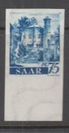 Saarland Abart Mi. Nr. 222 Z U ** 75 Pf. ungezähnt