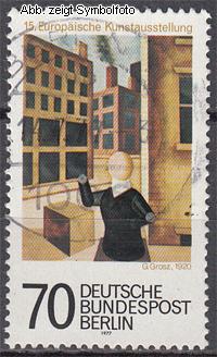 briefmarken berlin 1977 michel nr 551 gestempelt kunstausstellung g nstig kaufen im briefmarken. Black Bedroom Furniture Sets. Home Design Ideas