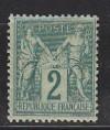 Frankreich Mi. Nr. 57 II  * Falz Allegorien 2 C