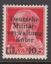 Besetzung II. WK Kotor Mi. Nr. 6 x ** Aufdruckmarke
