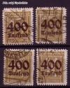 DR Mi. Nr. 297 - 300 o Freimarken Ziffern mit neuem Wertaufdr.