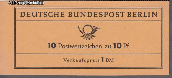 briefmarken berlin markenheftchen 3 a postfrisch g nstig kaufen im briefmarken online shop. Black Bedroom Furniture Sets. Home Design Ideas