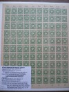 SBZ Ostsachsen Mi. Nr. 57 a/b ** grün 5 Pfennig Ganzbogen
