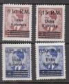 Besetzung II. WK Kotor Mi. Nr. 7 - 10 ** Aufdrucksatz