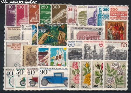 briefmarken berlin 1982 jahrgang postfrisch 1982 berlin briefmarken jahrgang postfrisch. Black Bedroom Furniture Sets. Home Design Ideas