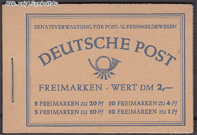 briefmarken berlin markenheftchen 2 postfrisch g nstig kaufen im briefmarken online shop. Black Bedroom Furniture Sets. Home Design Ideas