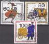 Berlin 1989 Mi. Nr. 852 - 854 o Postbef�rderung