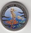 Palau 1 Dollar Farbmünze 1995  Seepferdchen u. Feuerfisch