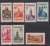 Saargebiet Mi. Nr. 161 � 167 ** Volkshilfe 1932 Burgen und Kirchen