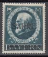 Saargebiet Mi. Nr. 30 ** 5 Mark Bayern mit Aufdruck Saare geprüft