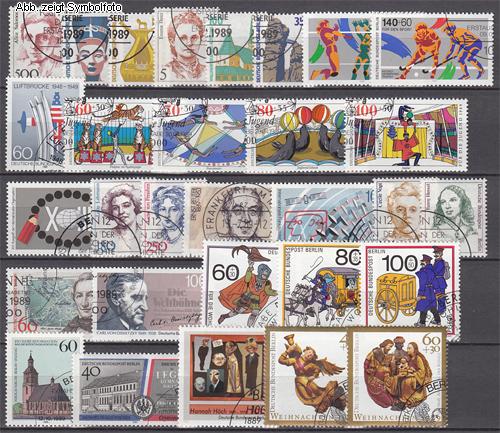 briefmarken berlin 1989 jahrgang gestempelt 1989 berlin briefmarken jahrgang gestempelt. Black Bedroom Furniture Sets. Home Design Ideas