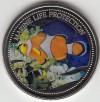 Palau 1$ Farbm�nze 2004 Clownfisch