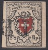 Schweiz Mi. Nr. 6 I o vollrandig 2 1/2 Rp Wappen mit Posthorn gepr�ft