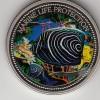 Palau 1$ Farbmünze 2005  Kaiserfisch