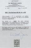 Günstige Abart  SBZ  Mi. Nr. 61 u DD Doppeldruck mit Attest