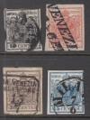 Lombardei und Venetien Mi. Nr. 2 - 5 y o  Wappenzeichnung