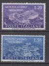 Italien Mi. Nr. 837 - 838 **  Wiederaufbau Kloster Cassino
