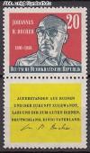 DDR Mi. Nr. 732 ** Zdr. Johannes R. Becher