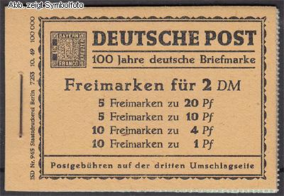 briefmarken berlin markenheftchen 1 postfrisch g nstig kaufen im briefmarken online shop. Black Bedroom Furniture Sets. Home Design Ideas