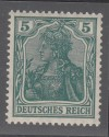 DR Mi. Nr. 85 II d ** Germania 5 Pf gepr�ft Farbabart