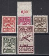 Freie Stadt Danzig Mi. Nr. 202 - 206 **  Flugpost 1924