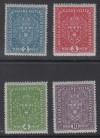 �sterreich Mi. Nr. 204 - 207 I ** Freimarken Wappen