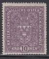 �sterreich Mi. Nr.211 I A ** Wappen 10 Kr Bildgr��e 25 x 30 mm