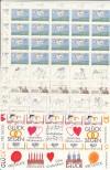 Liechtenstein Kleinbogen Mi. Nr. 1041 - 1044 **  Grußmarken 1992