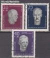DDR Mi. Nr. 606 - 608 A o Aufbau Nat. Gedenkstätten
