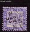 AD Staaten Baden Mi. Nr. 19 b o Wappen 6 Kreuzer