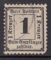 AD Bayern Portomarke Mi. Nr. 2 X o gepr�ft Ziffer 1 Kr im Rechteck