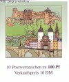 Bund Markenheftchen 33 ** mit Heftchenblatt 37 Heidelberg